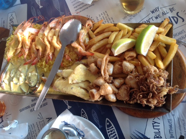 Seafood platter for 2 from a Capetonian restaurant.