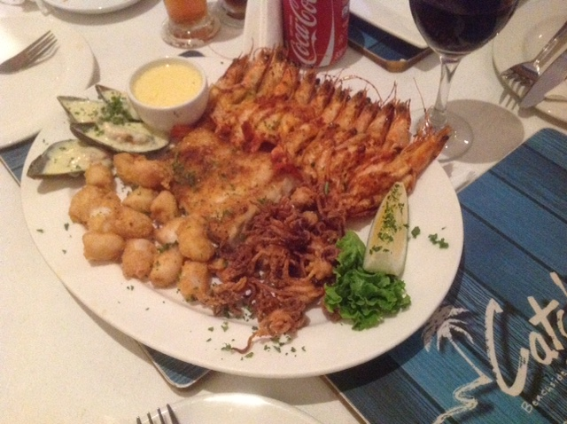 Seafood platter for 2 from another Capetonian restaurant.