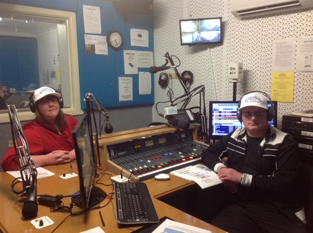 Rachel Elizabeth Jones with Dr Michael Spisto Gippsland FM