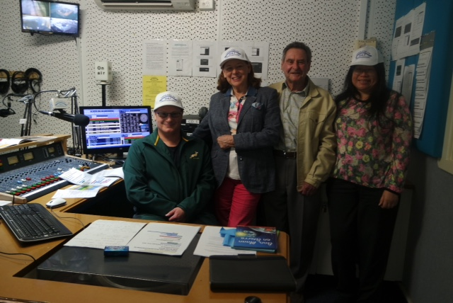 Dr. Michael Spisto, Professor Anona Armstrong AM, Mr. Don Armstrong AM; Dr. Christine Lee. Catching Upwith South Africa Gippsland FM 104.7