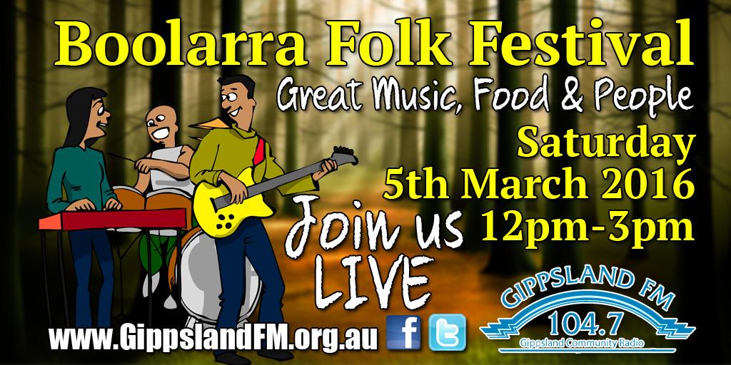 Boolarra Folk Festival Live Broadcast