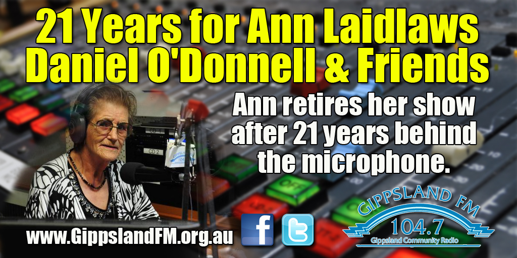 21 Years for Ann Laidlaws Daniel O'Donnell and Friends