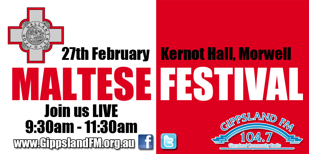 Join us from the Latrobe Valley Maltese Festival at Kernot Hall