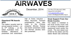Download the Airwaves December 2014 Newsletter